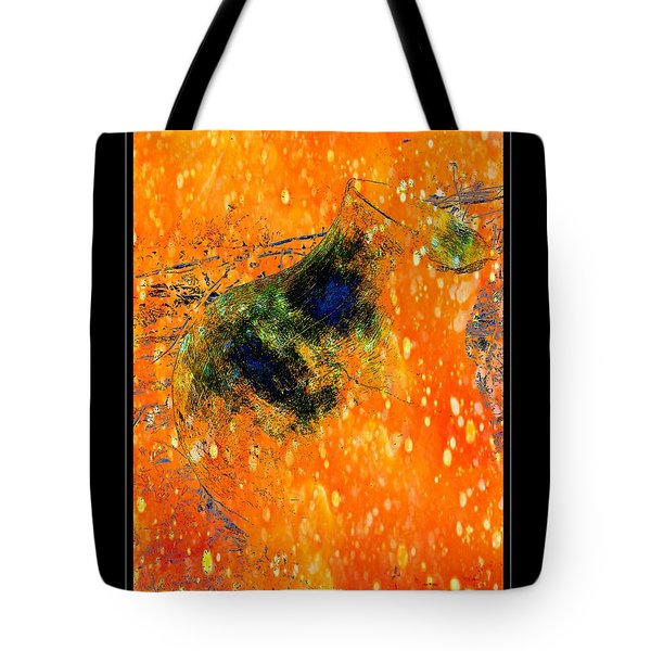 Jug In Black And Orange Tote Bag
