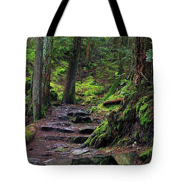 Tote Bag featuring the photograph Jug Island Beach Trail by Sharon Talson