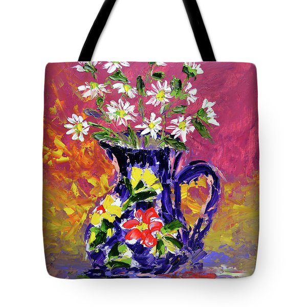Jug Of Daisies Tote Bag