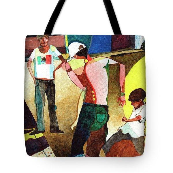Jugando Tote Bag