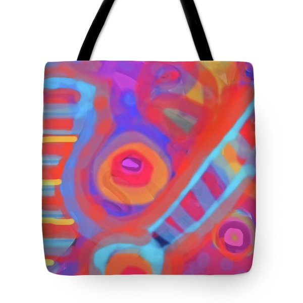 Tote Bag featuring the painting Juicy Colored Abstract by Susan Stone
