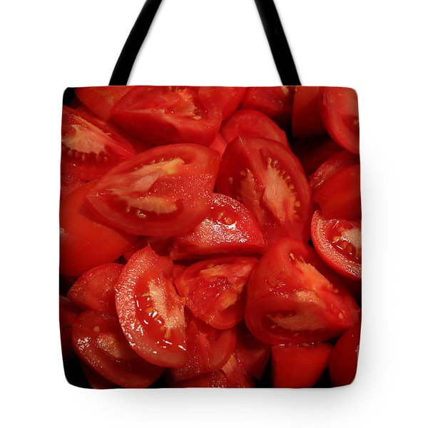 Tote Bag featuring the photograph Juicy Tomatoes by Jeanette French