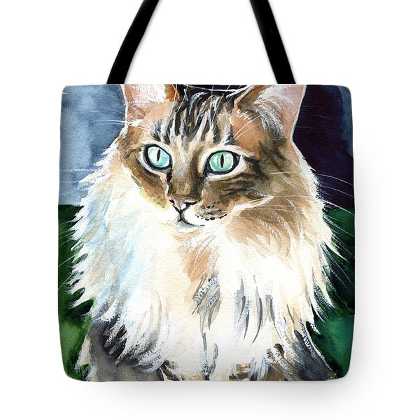 Juju - Cashmere Bengal Cat Painting Tote Bag