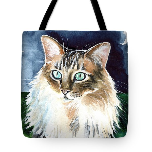 Juju - Cashmere Bengal Cat Painting Tote Bag