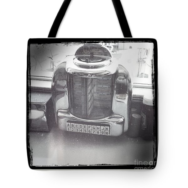 Tote Bag featuring the photograph Juke Box by Nina Prommer