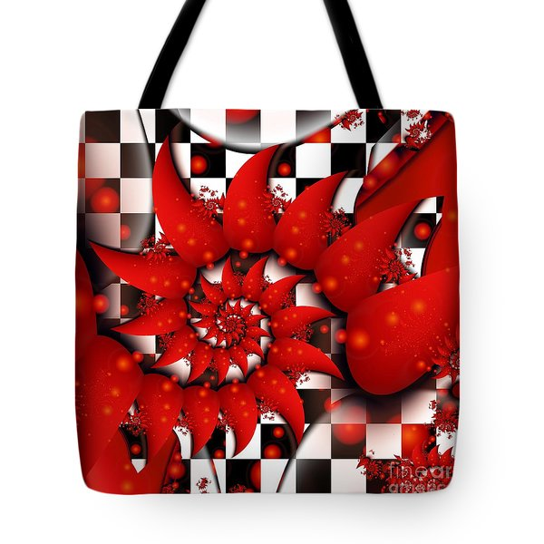 Tote Bag featuring the digital art Julias Summer Red by Michelle H
