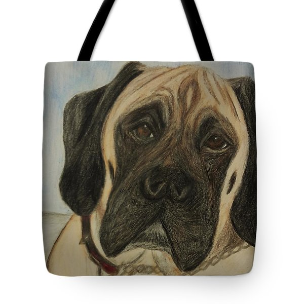 Julie's Dog Lounging Tote Bag by Christy Saunders Church