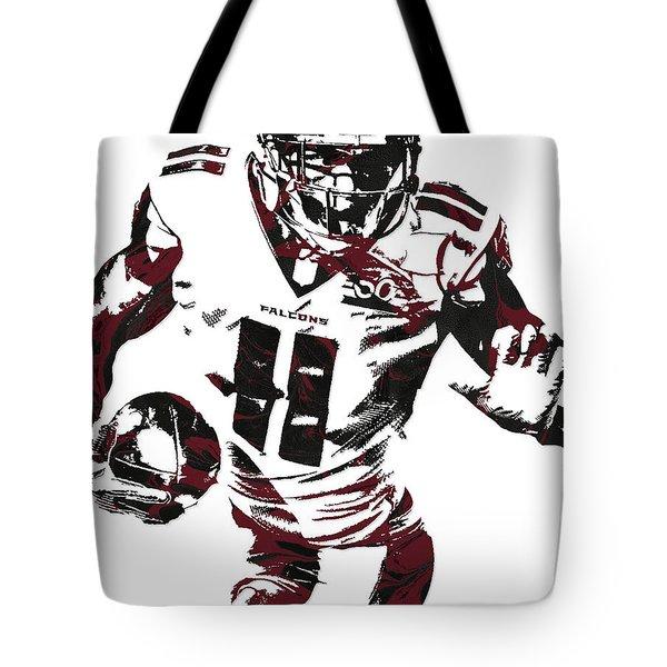Julio Jones Atlanta Falcons Pixel Art 4 Tote Bag