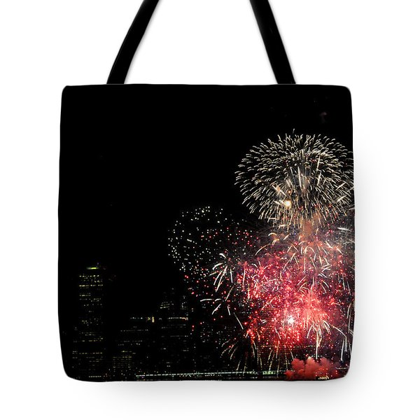 July 4 Fireworks New York City Tote Bag