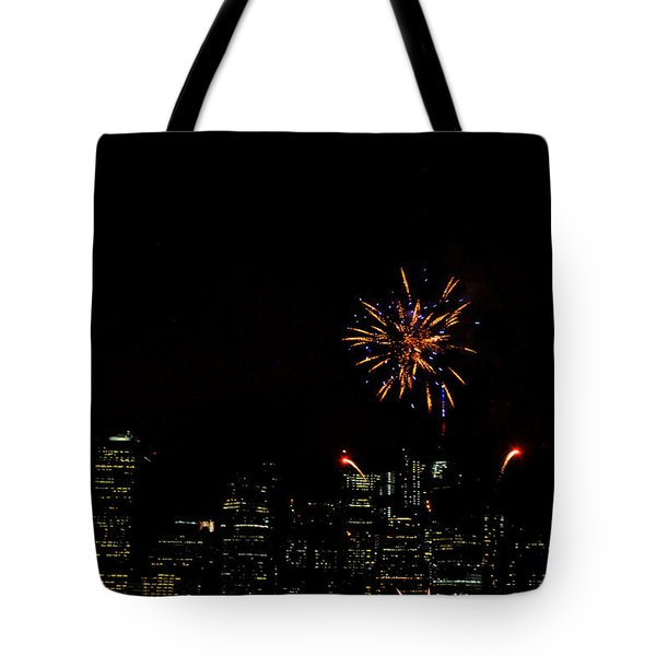 July 4 Fireworks Over New York City Tote Bag
