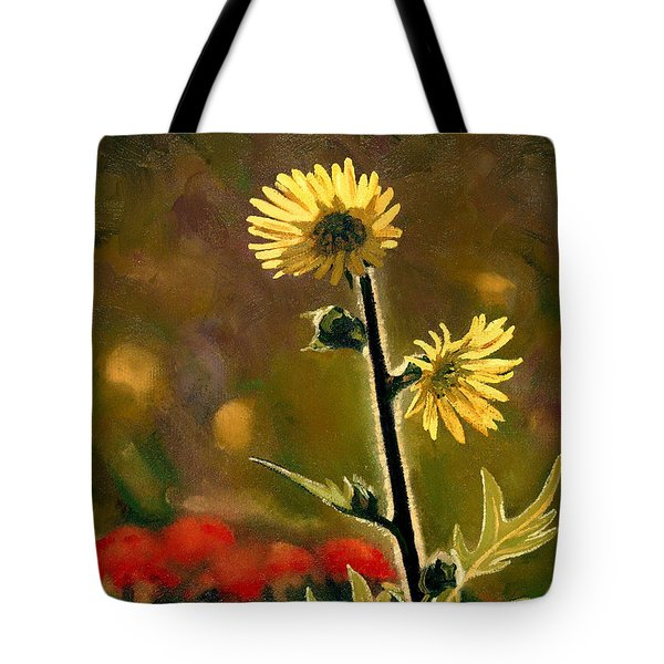 July Afternoon-compass Plant Tote Bag