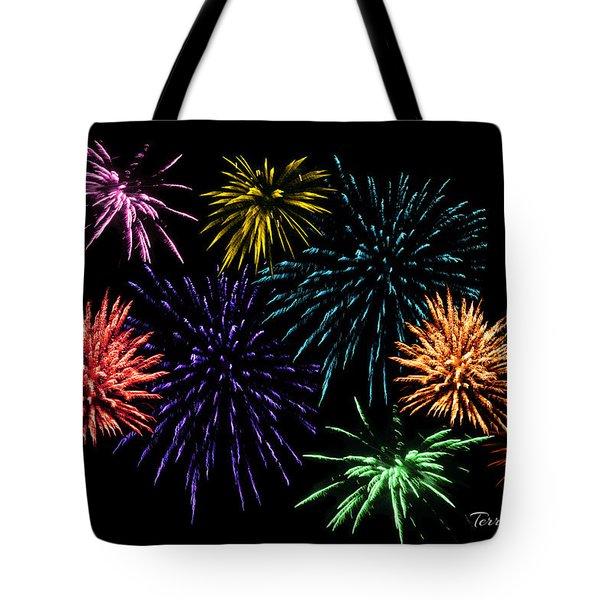 July Fireworks Montage Tote Bag