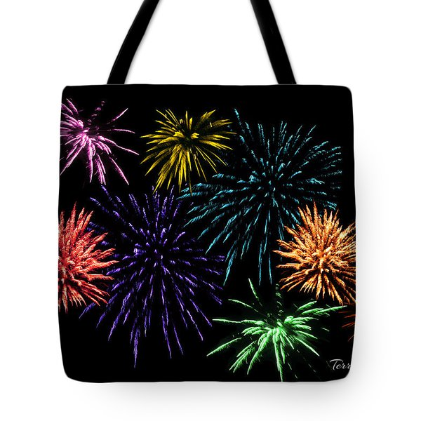 July Fireworks Montage Tote Bag