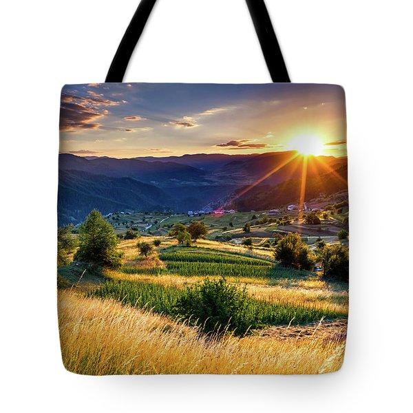 July Sun Tote Bag by Evgeni Dinev