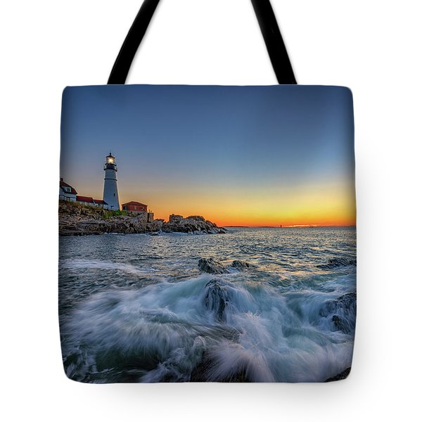 July Sunrise At Portland Head Tote Bag