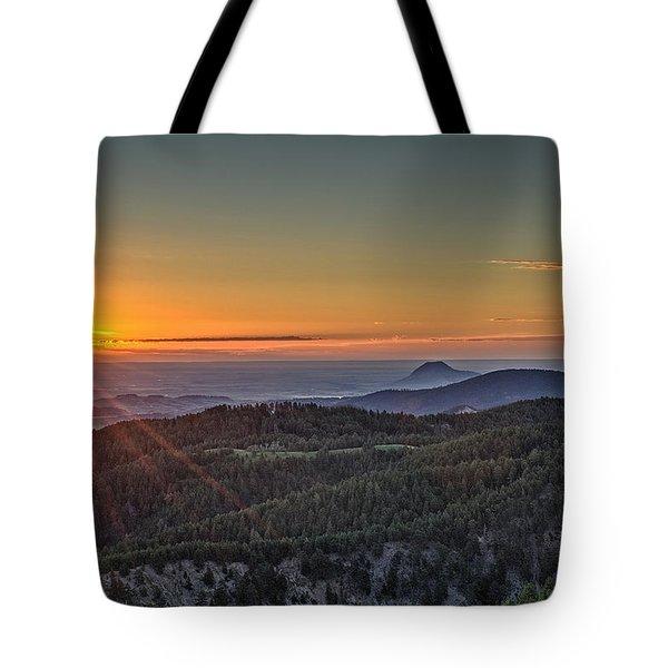 July Sunrise Tote Bag