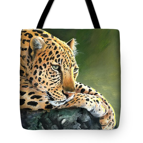 Tote Bag featuring the painting Jumanji by Sherry Shipley