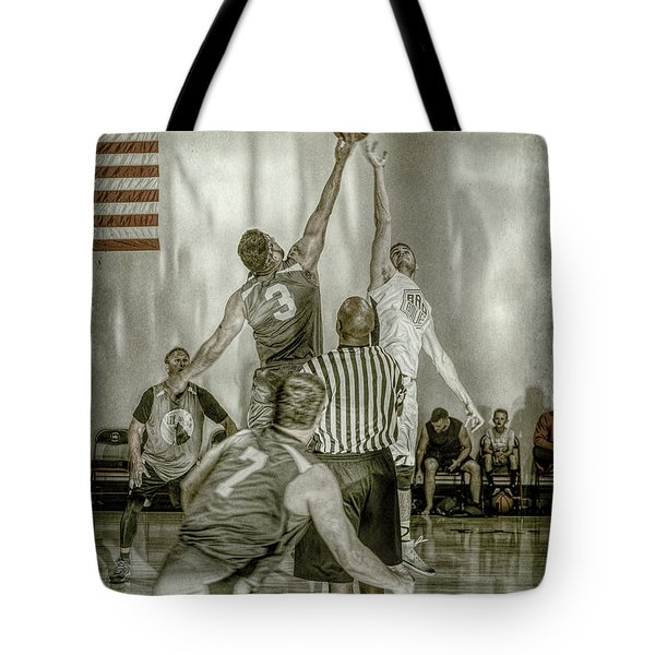 Tote Bag featuring the photograph Jump Ball by Ronald Santini