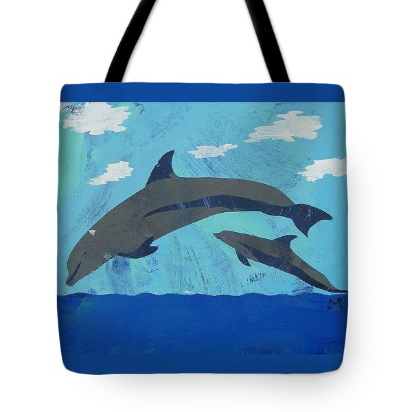 Tote Bag featuring the painting Jump For Joy by Candace Shrope
