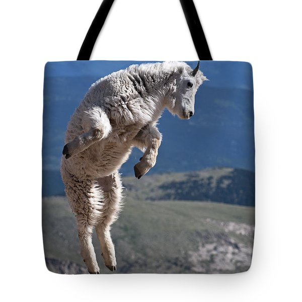 Tote Bag featuring the photograph Jump by Gary Lengyel