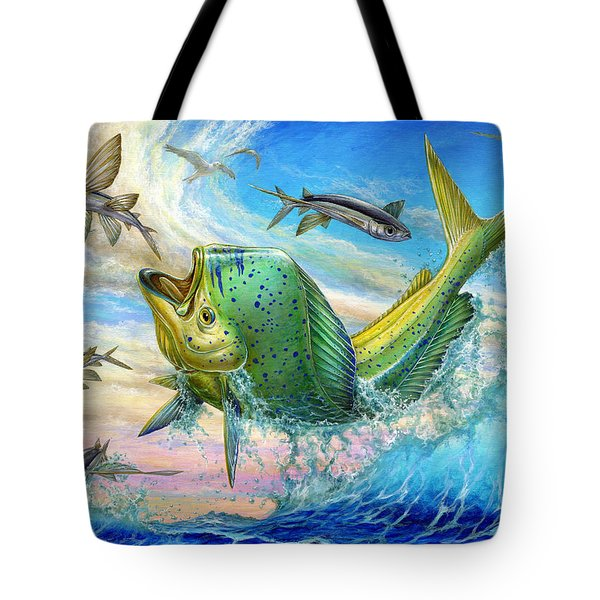 Jumping Mahi Mahi And Flyingfish Tote Bag