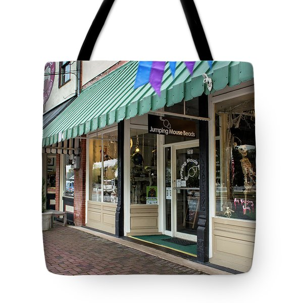 Jumping Mouse In Blue Ridge Tote Bag