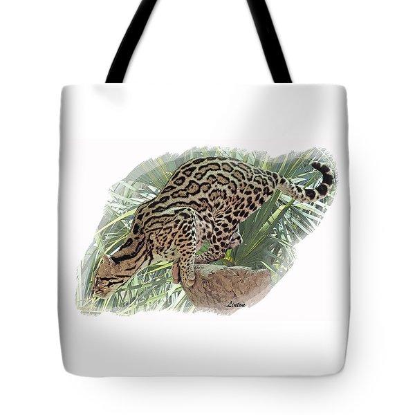 Pouncing Ocelot Tote Bag