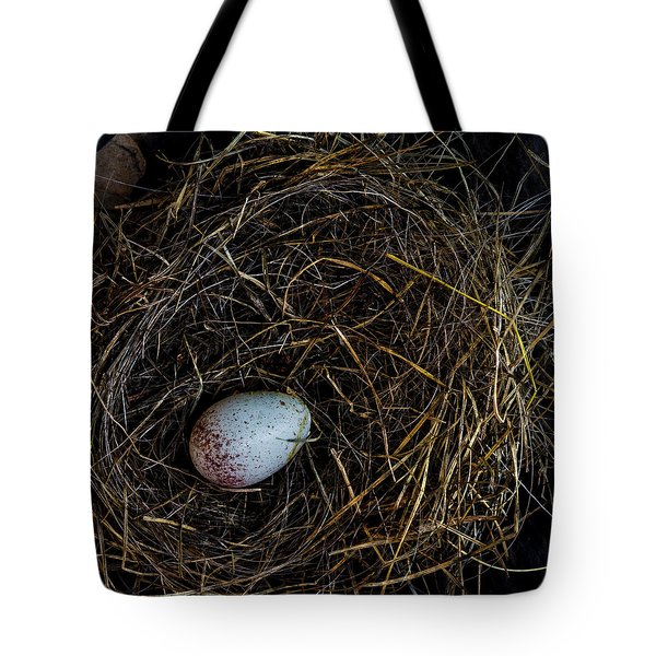 Junco Bird Nest And Egg Square Version Tote Bag