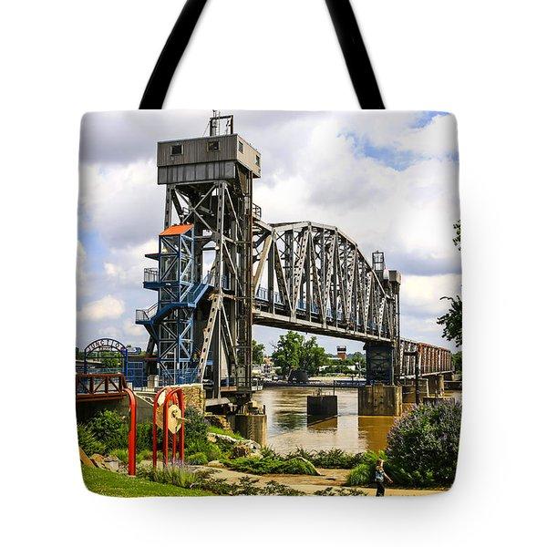 Junction Bridge Little Rock Tote Bag
