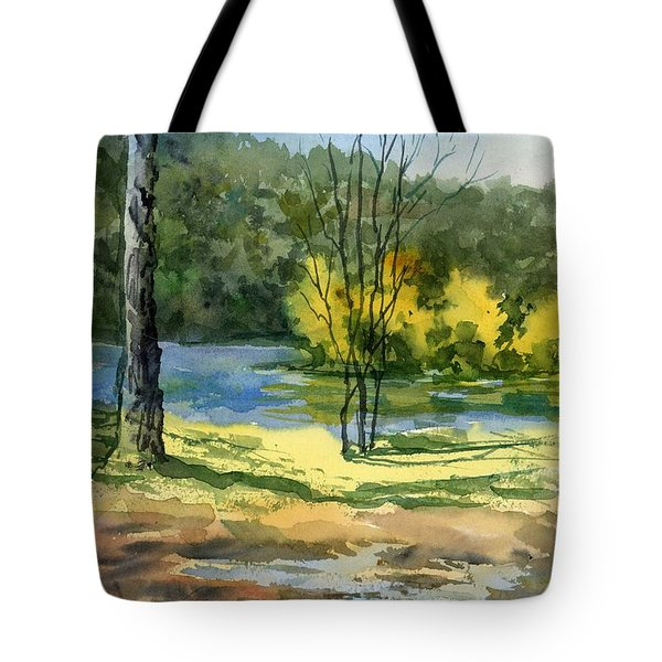 Junction Of White And Spring Rivers Tote Bag