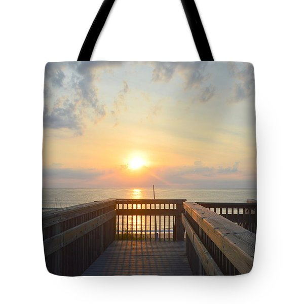 Tote Bag featuring the photograph June 17th Sunrise by Barbara Ann Bell