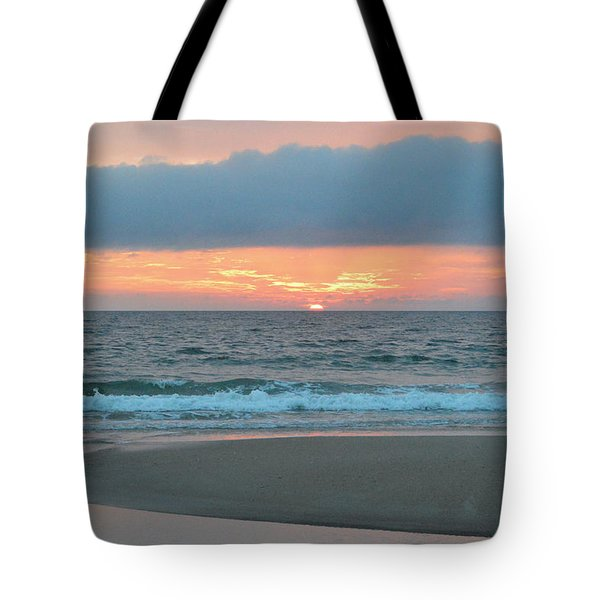 Tote Bag featuring the photograph June 20 Nags Head Sunrise by Barbara Ann Bell
