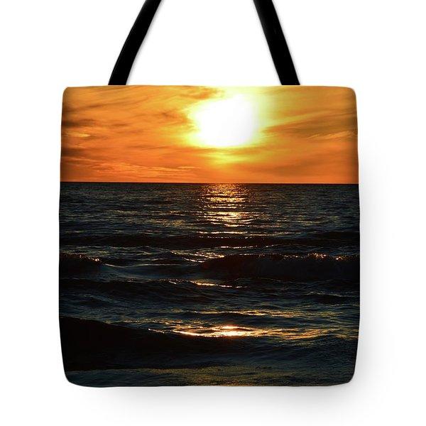 June 21 - 2017 Sunset At Wasaga Beach  Tote Bag