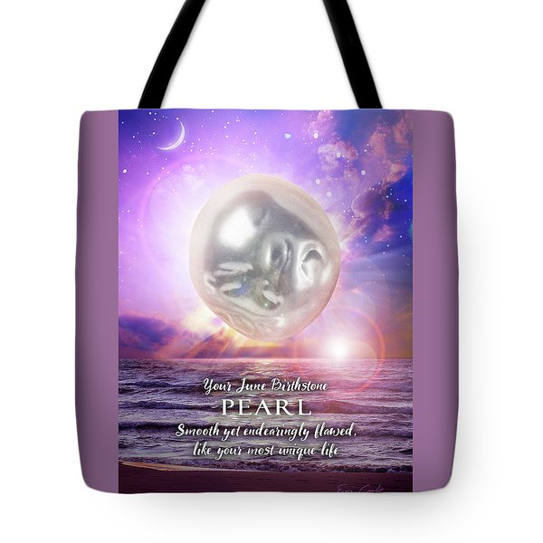 June Birthstone Pearl Tote Bag
