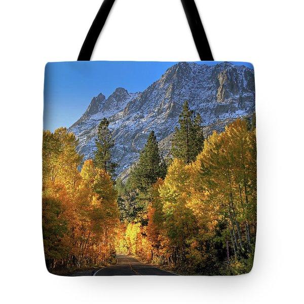 June Lake Loop Tote Bag by Donna Kennedy