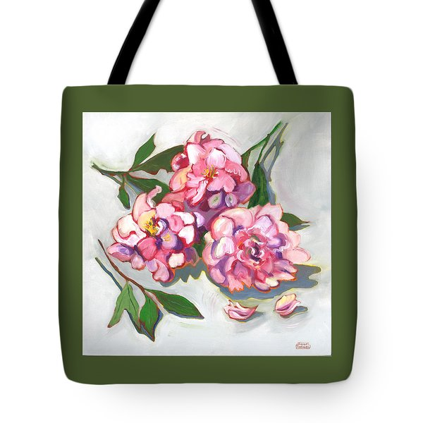 June Peonies Tote Bag