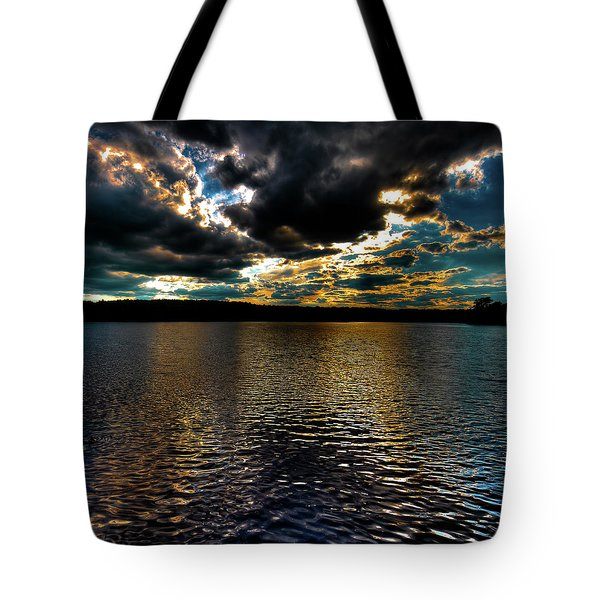 Tote Bag featuring the photograph June Sunset On Nicks Lake by David Patterson