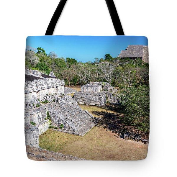 Jungle And Ruins Of Ek Balam Tote Bag