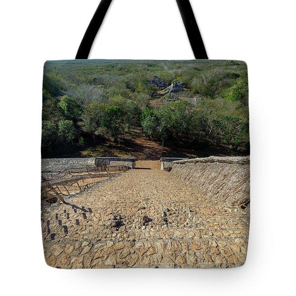 Jungle And Ruins View Tote Bag