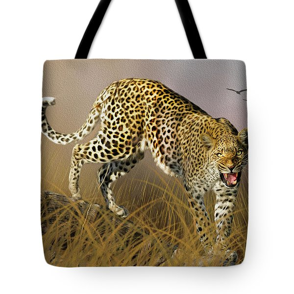 Tote Bag featuring the photograph Jungle Attitude by Diane Schuster