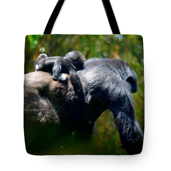 Jungle Baby Hitch Hiker Tote Bag
