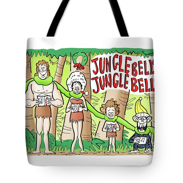 Tote Bag featuring the digital art Jungle Bells by Mark Armstrong