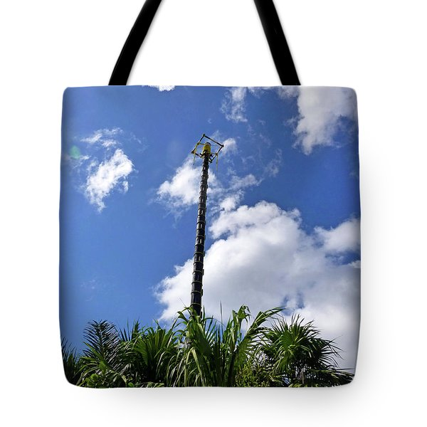 Tote Bag featuring the photograph Jungle Bungee Tower by Francesca Mackenney