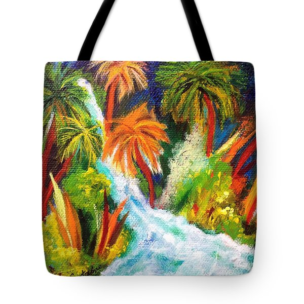 Jungle Falls Tote Bag by Elizabeth Fontaine-Barr