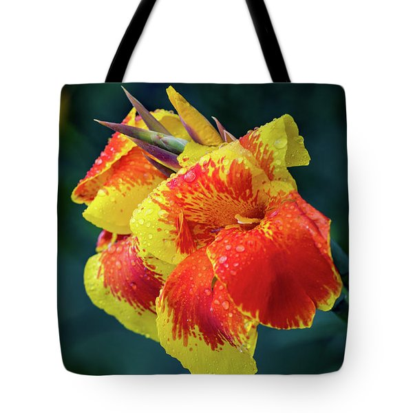 Jungle Flowers Tote Bag