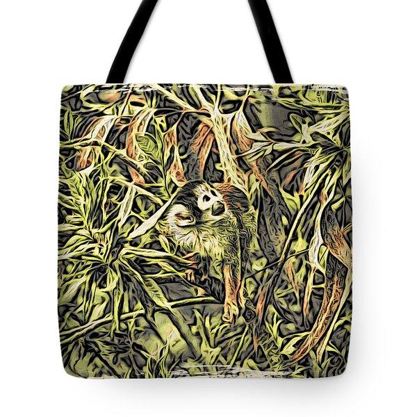 Jungle George Tote Bag