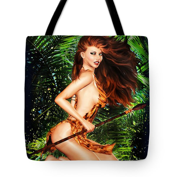 Jungle Girl Tote Bag