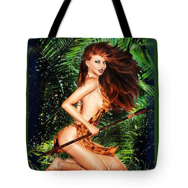 Jungle Girl Tote Bag