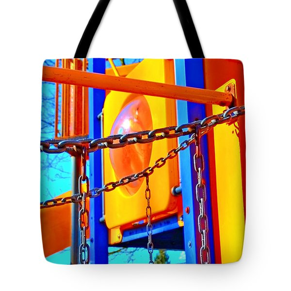 Jungle Gym Tote Bag by Tobeimean Peter