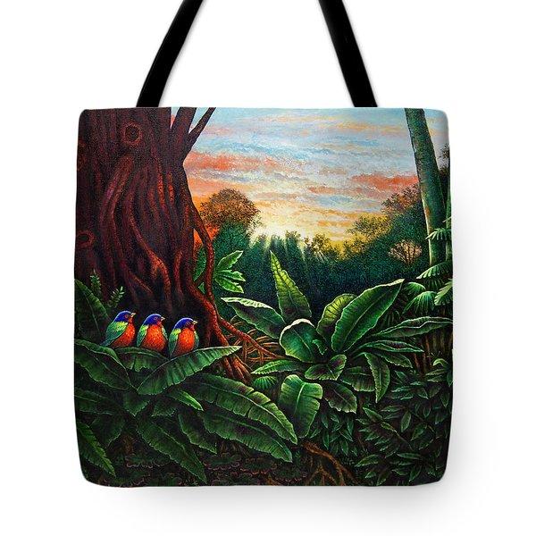 Jungle Harmony 3 Tote Bag